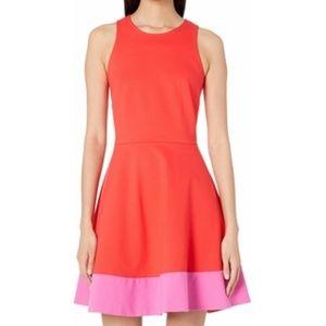 Kate Spade Color Block Ponte A-Line Dress Red NEW